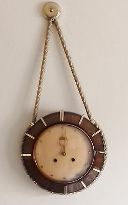 Stuning Vintage Hermle mechanical wall Westminster chiming clock + Key