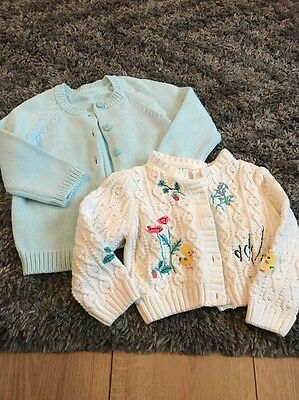 2 X Baby Girls Marks And Spencer's Cardigans 9-12 Months