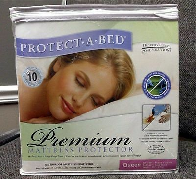 NEW Protect-A-Bed Queen Size Premium Mattress Protector Waterproof Fitted Bed