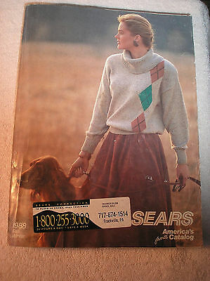 Vintage 1988 Sears America's favorite Catalog Fall & Winter Catalog
