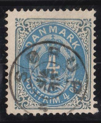 DENMARK  4 ore   Stamps with obliteration  star of the city of SORUP