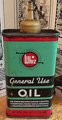 Vintage Whiz General Use Oil Tin / Can / Handy Oiler - Gas Station - New Jersey