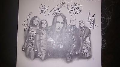 Signed Motionless in White Pencil Drawing