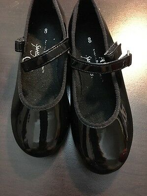 ABT Spotlights Black Patent Leather Tap Dance Shoes Toddler Girl Size 8