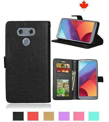 For LG G6 G5 G4 V30 Luxury PU Leather Flip Wallet Case Cover w Credit Card Slots