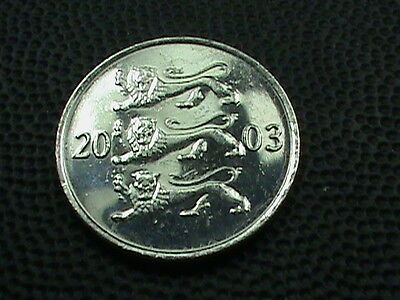 ESTONIA    20  Senti    2003    BRILLIANT  UNCIRCULATED   ,    LIONS