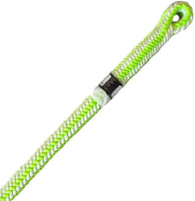 New England safety blue Ultra Vee 16 Strand Tree Climbing Rope with Spliced eye