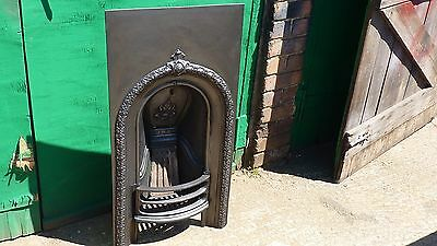 Victorian Cast Iron  Arched Insert Fireplace