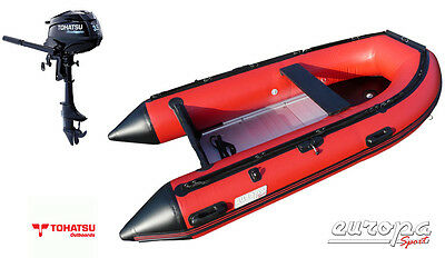 Europa Sport A300 3.0m Inflatable Boat Aluminium Floor + Tohatsu 3.5hp outboard
