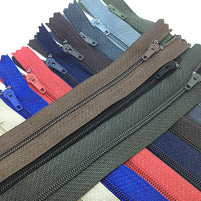 "5 x 16""/40cms Cushion Zips. Choice of 17 zip colours. Closed end No 3 zip"