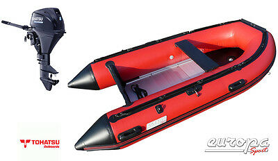 Europa Sport A300 3.0m Inflatable Boat Aluminium Floor + Tohatsu 8hp outboard