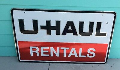 U-HAUL Rentals Metal Double Sided  Top Hanging Advertising Sign