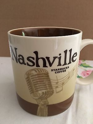 STARBUCKS NASHVILLE TENNESSEE 2012 Global Icon 16 oz Mug MINT Microphone