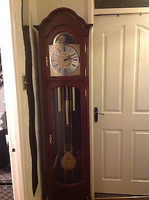 Antique Grandfather, Clock Over 7ft Tall With Westminster Chimes .