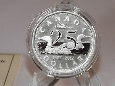 Canada 2012 25th anniversary Loonie 9999 pure silver  Canadian coin