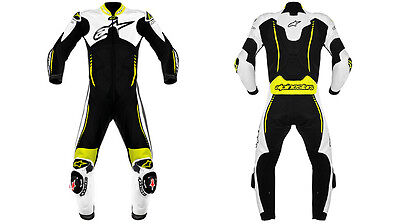 Alpinestars Men's Motorbike Cowhide Racing  Leather Suit One Piece Uk42HBG (Rep)