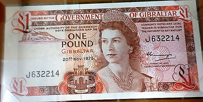 A 20.11.1975 (1978)1 Pound Bank Note from Gibraltar UNCIRCUITED  P 20a  C-007