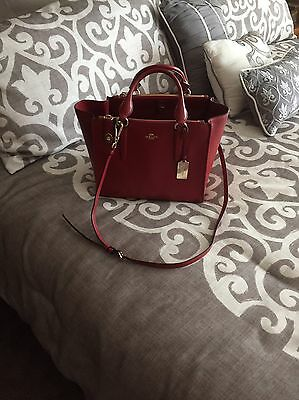 Coach Crosby Leather Satchel With Cross Body Strap