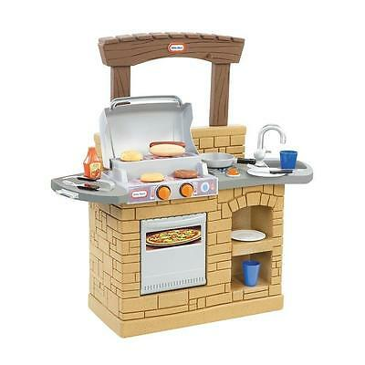 Kids Grill Cook Play Set Outdoor BBQ Toys Toddler Pretend Kitchen Pans New