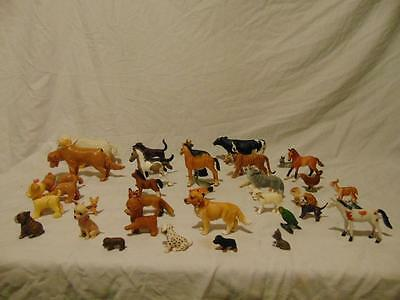 Lot of (39) Plastic Animal Figures Schleich & others Horses Dogs Tiger Cow Birds