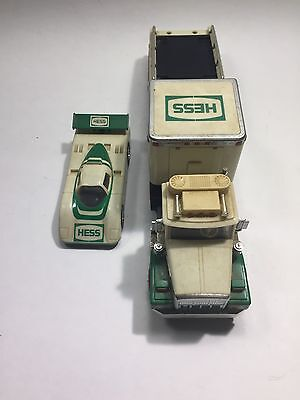 1988 Hess Toy Truck & Racer Vintage Used No Box
