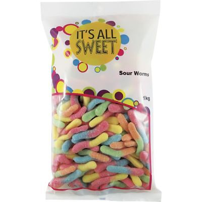 It's All Sweet Sour Worms 1kg