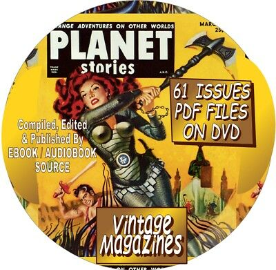Planet Stories Vintage Sci-Fi Magazines - Comic Books - 117 Issues - Pdf - Dvd