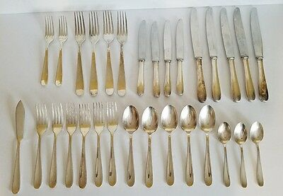 Vintage Christofle 30 Pc Silverplate Flatware Spoons, Forks, Knives
