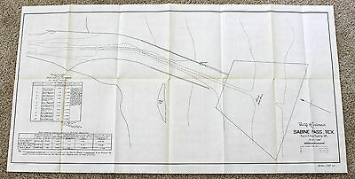 1897 Sabine Pass Texas Map Entrance Original U.S. Engineers Survey Jelly Light