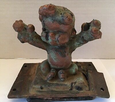 Original Vintage Metal Copper Toy Factory Mold - Baby- Doll- Outstretched Arms