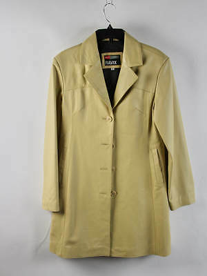 Ravix Long Sleeve Shortbread Cokkie Tan Button Down Trench Coat Size M