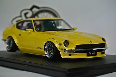 1/18 Ignition Model Diecast Genuine Nissan Fairlady Z S30 Starroad Yellow 0650