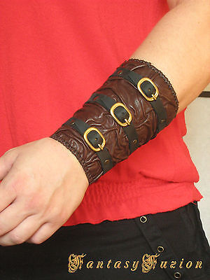 Steampunk Medieval Fashion Leather BracerS -A Pair-