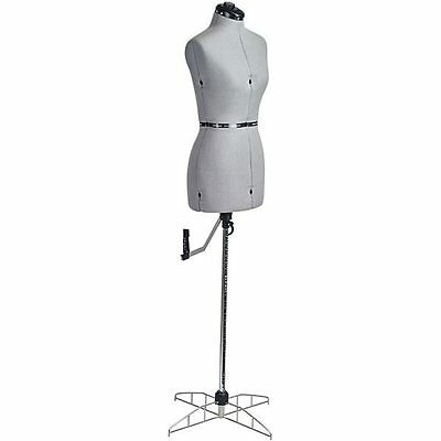 Domestic Grey Small Adjustable Dress Form Sewing Mannequin With Stand