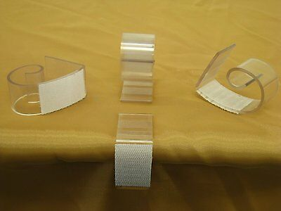 "NAVAdeal Table Skirting Clips Tablecloth Clips for Table 3/4"" - 2"", Pack of 25"