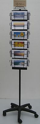 Display stand for cards, books, wallets, brochures,hats, tools etc .