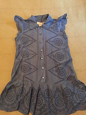 NWT Stella McCartney Gap kids Eyelet Blue tunic top Girls Size S 6 7