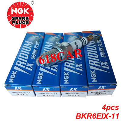 Set of 4 NGK Iridium Spark Plugs BKR6EIX-11  (3764  4272)