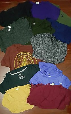 Lot of 12 Women's short sleeved shirts. All size SMALL. NIKE LEVIS EXPRESS H&M