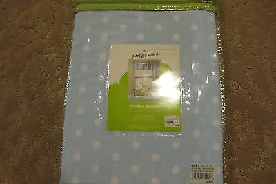 Jumping Beans Brand Light Blue With White Polka Dots Nursery Window Valance Nwt!