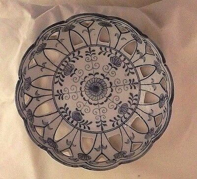 Reticulated Blue and White Porcelain Bowl