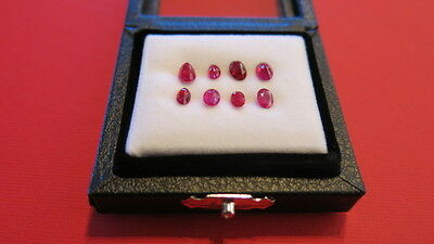 3.70 Carat Genuine High Clarity  8 x Oval Ruby Loose Gemstones Pinkish Red