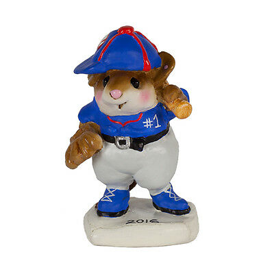 BATTER UP by Wee Forest Folk, WFF# MS-15c, Chicago Cubs World Series Mouse