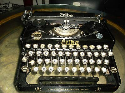 Erika Rare Vintage Antique Typewriter German Made erika no#5 Glass Keytops 1940s