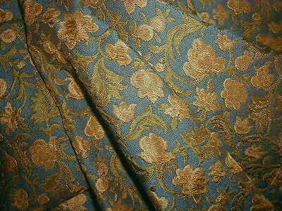 Vintage English Arts and Crafts Brocade Upholstery Fabric Heavy & Dense 85 x 55