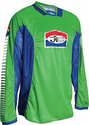 JT Racing USA Pro-Tour Jersey (Green/Blue, Large)
