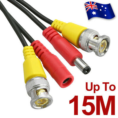 5M 10M 15M BNC Video DC Power Extension Cable Cord For CCTV Security Camera DVR