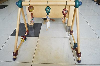 As new I'm toy wooden baby play gym activty bar toy