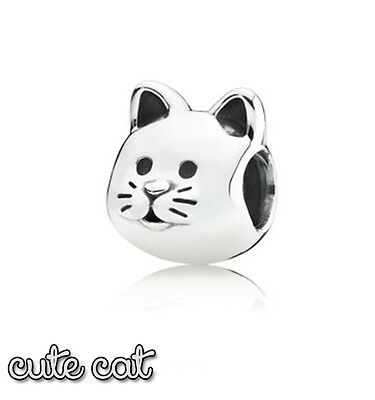 Pandora Genuine ALE 925 Silver Cute Cat Charm 791706
