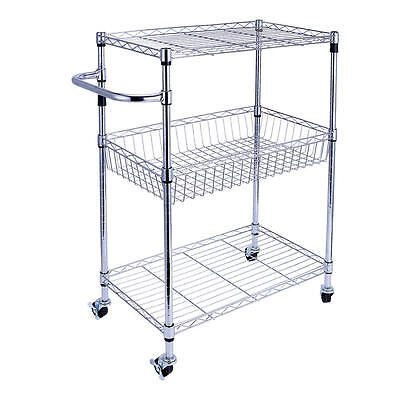 Garage Heavy Duty Shelf Steel Metal Storage 3 Level Adjustable Shelves Unit